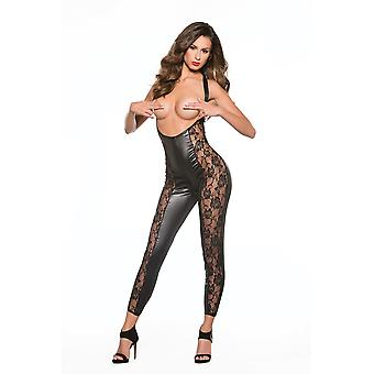 Allure AL-10-5602K Lace & Wet Look Catsuit