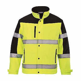 Portwest - Hi-Vis Two Tone Softshell Safety Workwear Workwear Jacket (3L)