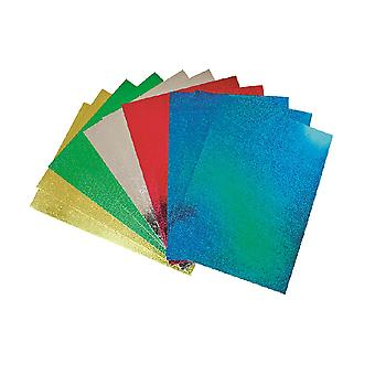 50 A4 Holographic Card Sheets for Kids Crafts | Coloured Card for Crafts