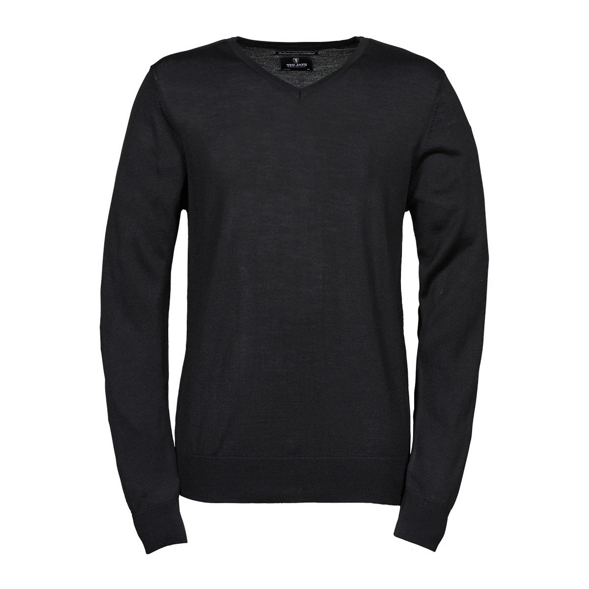 Tee Jays Pour des hommes Knitted V Neck chandail