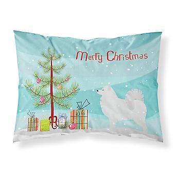 Samoyed Merry Christmas Tree Fabric Standard Pillowcase