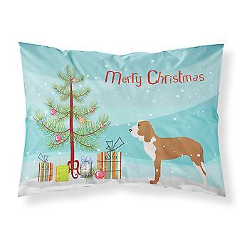 Español perro feliz árbol de Navidad tela funda de almohada estándar