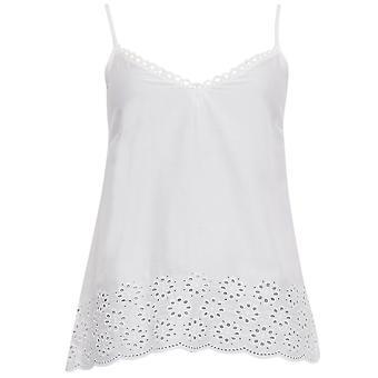 Cyberjammies 3332 Women's White AOE Range White Modal Pajama Sleepwear PJs Pyjama Top