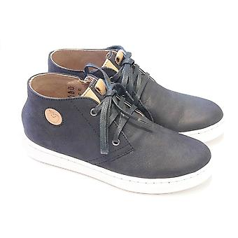 Shoo Pom Smart Boys Navy Nubuck Lace Boots By Shoo Pom