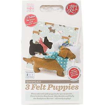 The Crafty Kit Co. Sewing Kit-3 Felt Puppies SK-0452