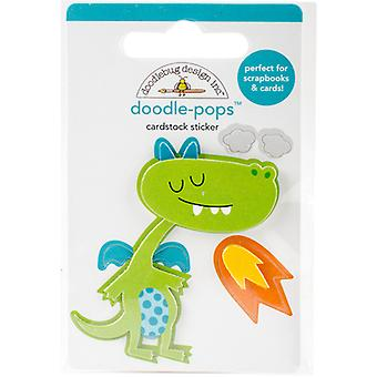 Doodlebug Doodle-Pops 3D Stickers -Dragon Tails Puff DRA5581
