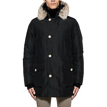 Woolrich men's WOCPS1674CN01NBL black cotton jacket