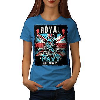 Royal Navy herlighet UK kvinner Royal BlueT-skjorte   Wellcoda