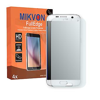 Samsung Galaxy S7 Edge screen protector - Mikvon FullEdge (screen protector with full protection and custom fit for the curved display)