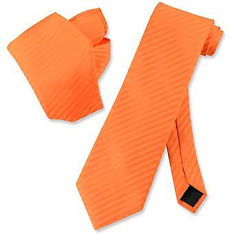 Vesuvio Napoli gestreifte Krawatte & Taschentuch passende Männer Hals Krawatte Set