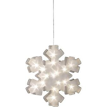 LED motif Snowflake Warm white LED Konstsmide 2785-103 Transparent
