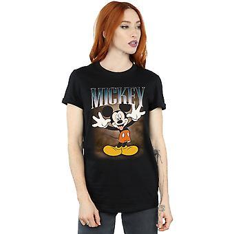 Disney Women's Mickey Mouse Tongue Montage Boyfriend Fit T-Shirt