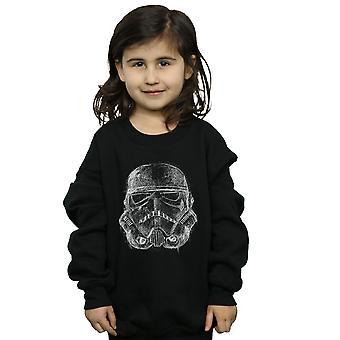 Star Wars meisjes Scribble Stormtrooper helm Sweatshirt
