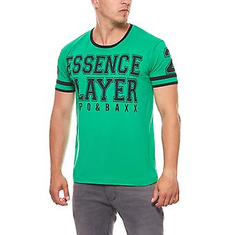 CIPO & BAXX essence player mens T-Shirt green print
