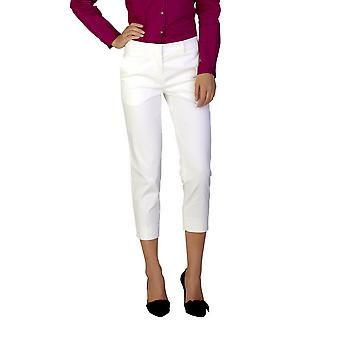 Miu Miu Women's Cotton Slim Fit Chino Pants White