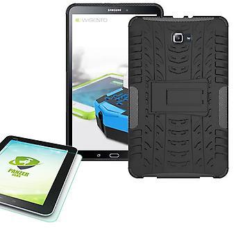 Obudowa zewnętrzna na hybrydowych dla Samsung Galaxy tab A 10.1 T580 + 0.4 szkło hartowane