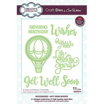 Creative Expressions Craft Dies By Sue Wilson-Necessities-Lift Your Spirits