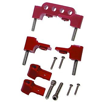 Taylor Cable 42722 Red Horizontal Clamp Style Wire Separators - Package of 6