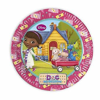 Doc McStuffins toy doctor party plates Ø 23 cm 8 piece children birthday theme party