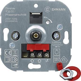 Ehmann 3900x0100 Flush-mount dimmer Suitable for light bulbs: Light bulb, Halogen lamp