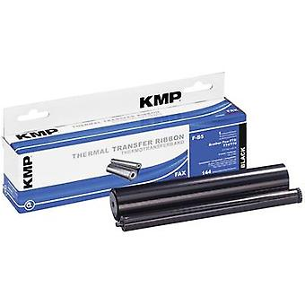 KMP Thermal transfer roll (fax) replaced Brother PC-71RF Compatible 144 pages Black 1 Rolls F-B5 71000,0012
