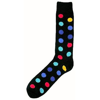 Bassin and Brown Spotted Midcalf Socks - Black/Multi-colour