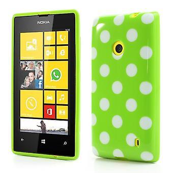 Protetor caso TPU para celular Nokia Lumia 520 525 verde / branco