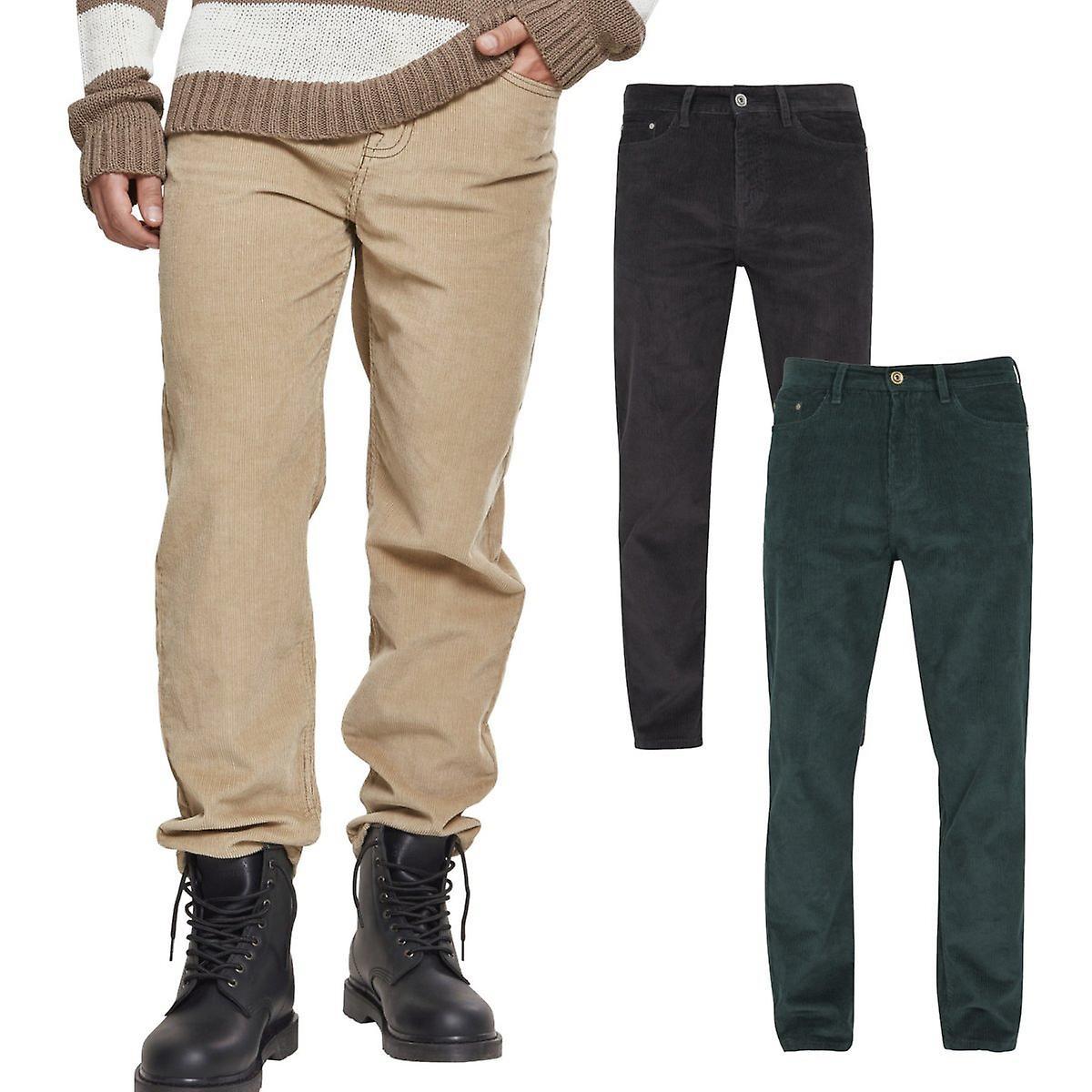 Urbains classics - velours côtelé 5 poches de pantalon en velours côtelé