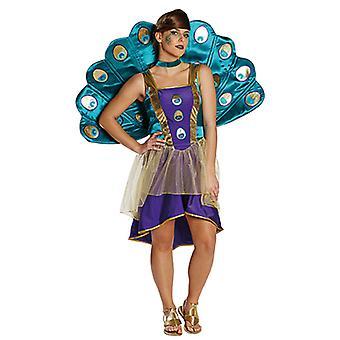 Peacock klänning dam kostym djur kostym Carnival Mardi Carnival