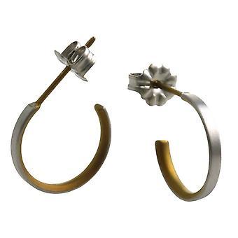 Ti2 Titanium Small Hoop Earrings - Tan Beige
