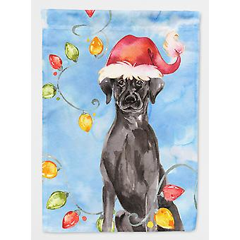 Christmas Lights Black Labrador Retriever Flag Garden Size
