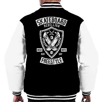 Skateboard Varsity Jacket ribellione maschile