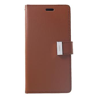 Mercury GOOSPERY Rich Diary to iPhone XS Max Brown