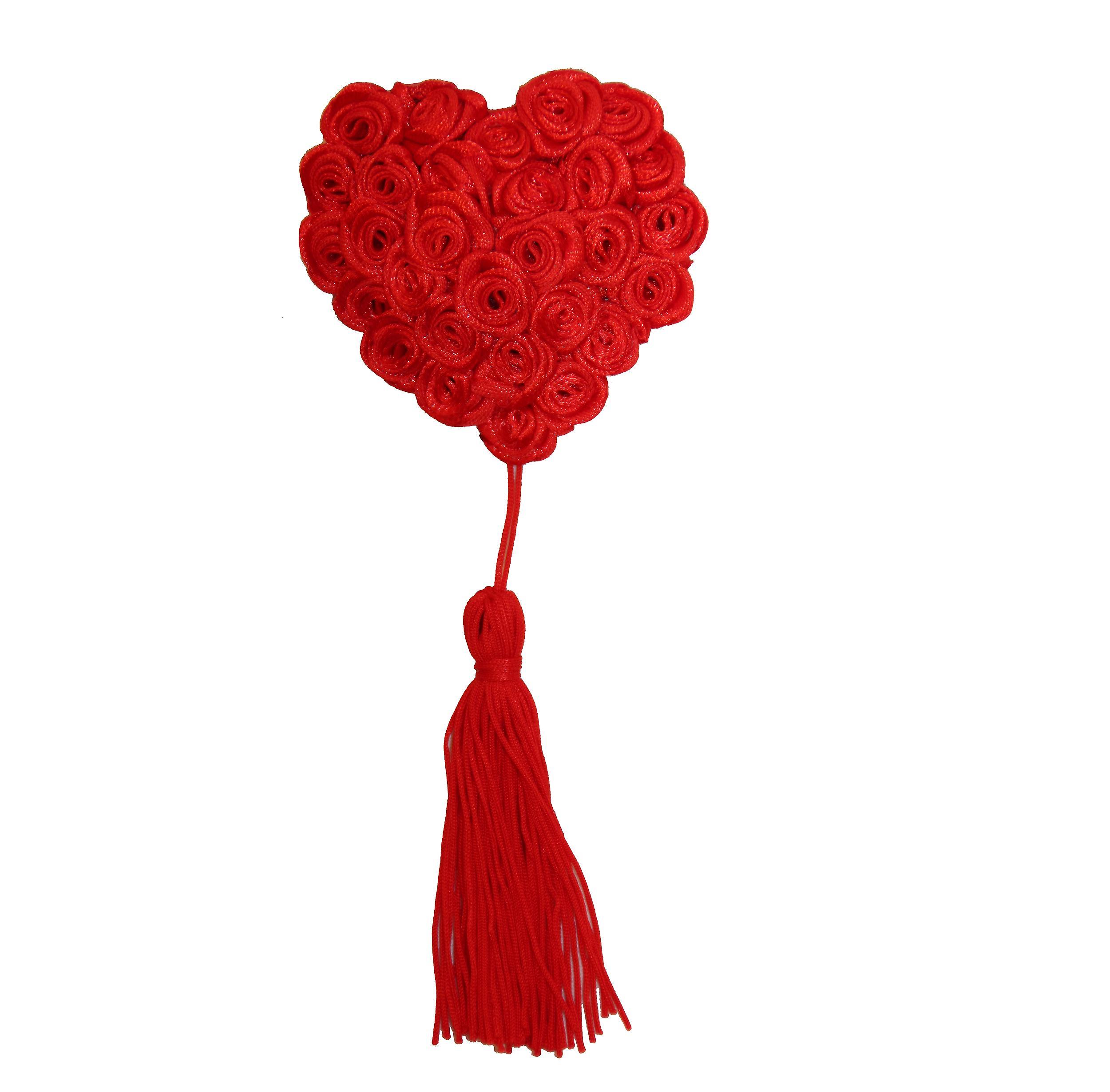 Waooh 69 - Cache-Tétons Roses En Coeur Rouge
