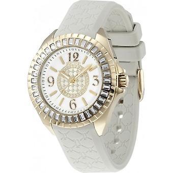 Ladies Gold Tone Jade Watch