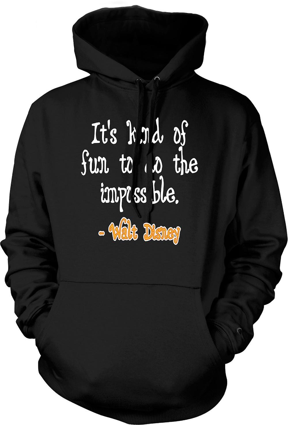 Kids Hoodie - It's Kind Of Fun To Do The Impossible - Walt Disney