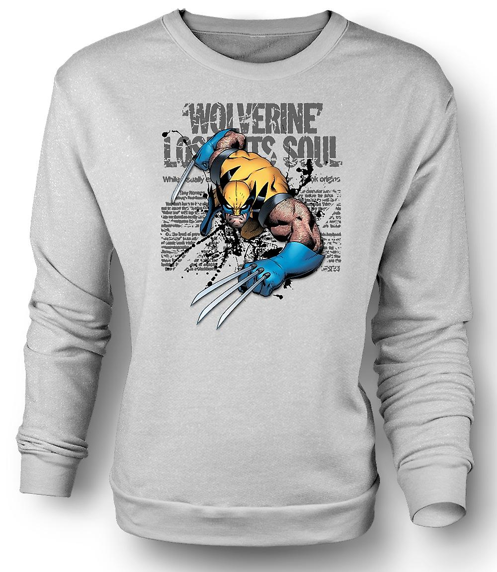 Mens Sweatshirt Wolverine - Lost Soul - Comic Hero