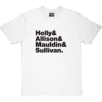Buddy Holly and The Crickets Line-Up Men's T-Shirt