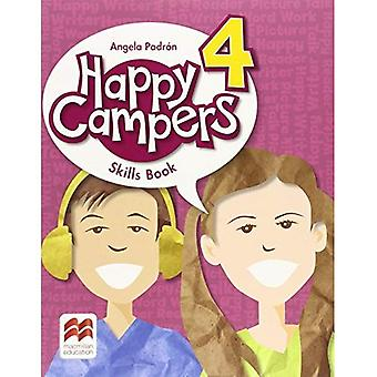 Livro de habilidades de nível 4 campistas felizes