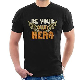 Be Your Own Hero Rock On Men's T-Shirt