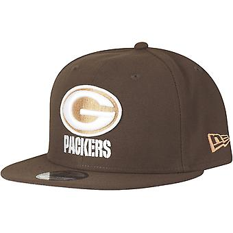 New era 9Fifty Snapback Cap - WALNUT Green Bay Packers Brown