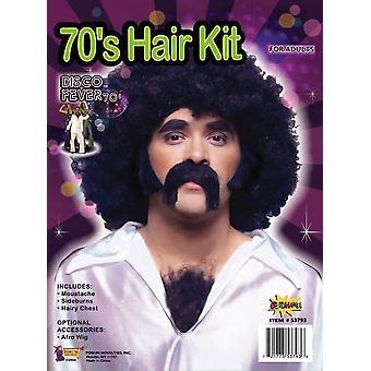 男性のためのディスコ髪キット