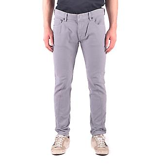 Stone Island Grey Cotton Jeans