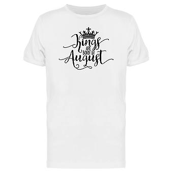 August Kings Born Text Tee Men's -Image by Shutterstock