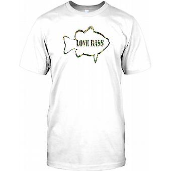 Love Bass - Cool Fishing Kids T Shirt