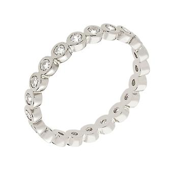 Bertha Juliet Collection Women's 18k WG Plated Stackable Eternity Fashion Ring Size 9