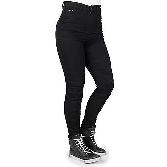 Bull-It nero Fury II SP45 Skinny - breve Womens moto Jeans