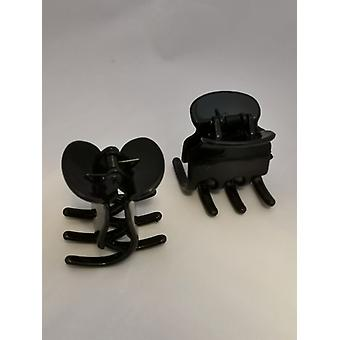 Hair clips Big (2-Pack) (Black)