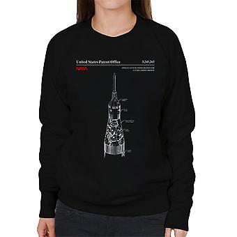 NASA Apollo Start Mondlandung Mission Blueprint Damen Sweatshirt