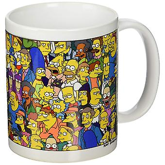 The Simpsons Characters Ceramic Mug (py)